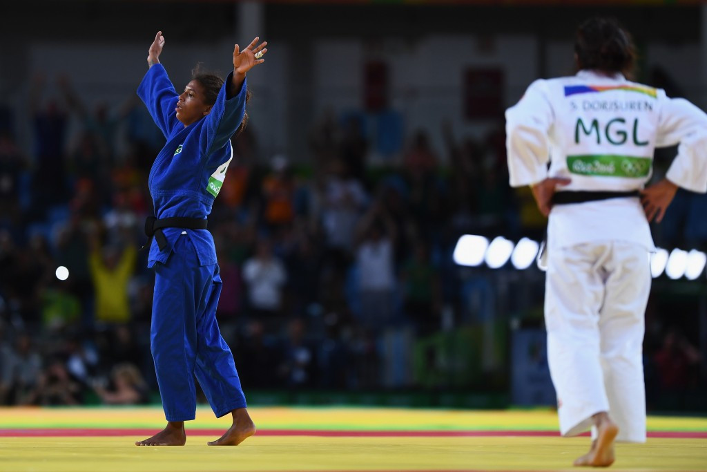 There were wild celebrations when Rafaela Silva struck to win gold ©Getty Images