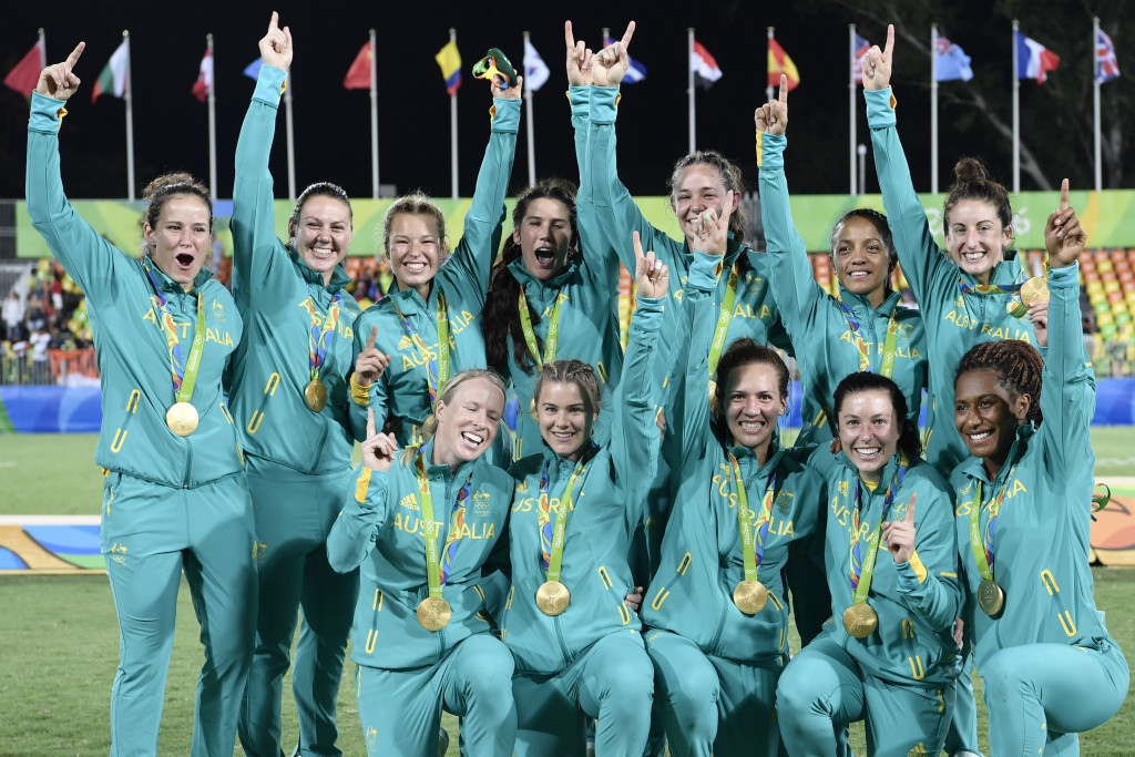 Australia secured the first-ever rugby sevens Olympic gold by beating New Zealand ©Getty Images