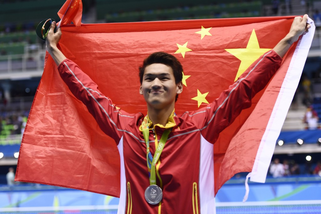 Sun Yang claimed Chinese gold in the 200m freestyle to follow 400m silver ©Getty Images