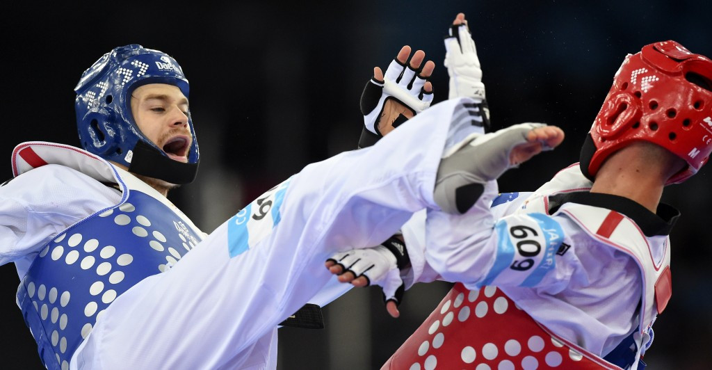 Lutalo Muhammad was controversially selected ahead of Aaron Cook (left), who was regarded as the world number one at the time of the London 2012 Olympic Games ©Getty Images