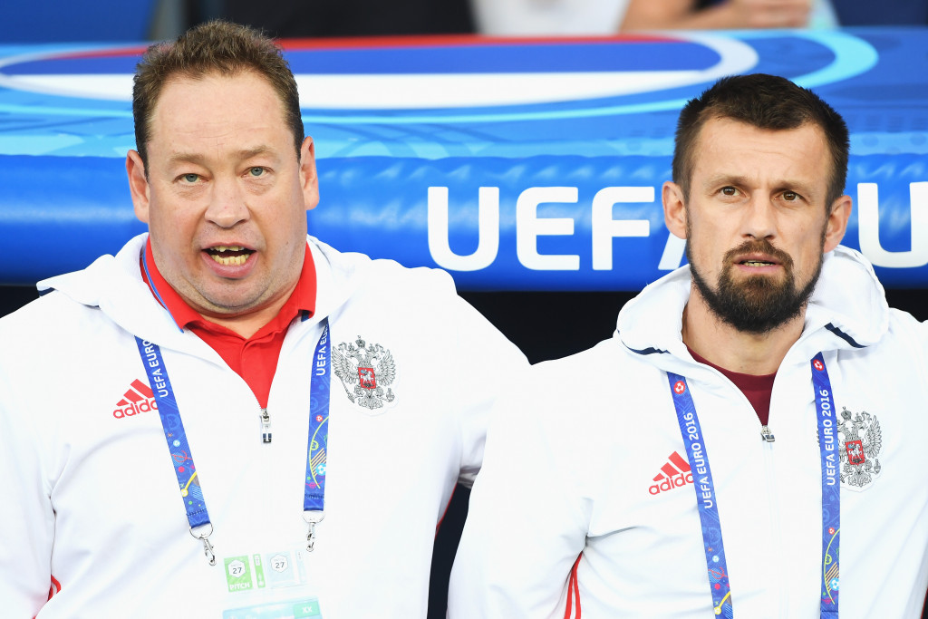 Vitaly Mutko is currently searching for a new national team coach after Leonid Slutsky departed following Euro 2016 ©Getty Images