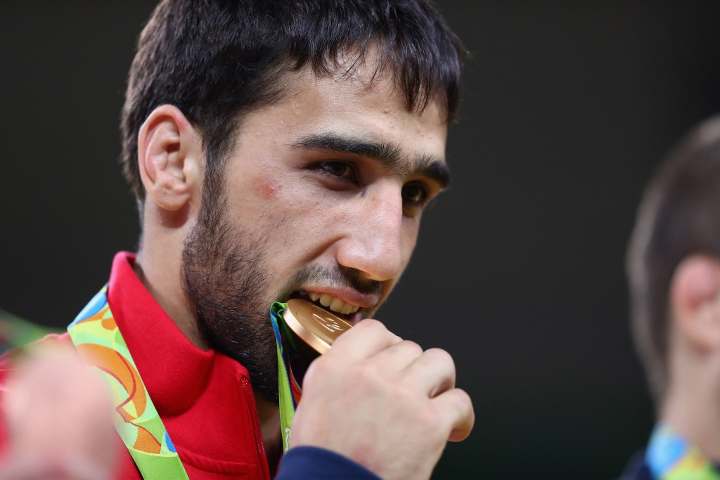 Khasan Khalmurzaev claimed Russia's second judo gold medal and third overall of the Rio 2016 Olympic Games ©Getty Images