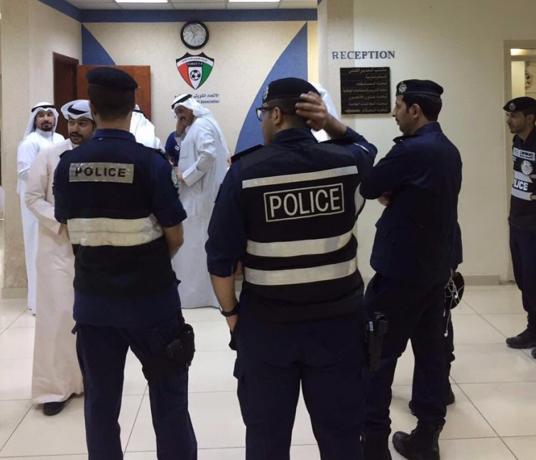 Police have conducted a raid of the Kuwait Football Association today ©Getty Images