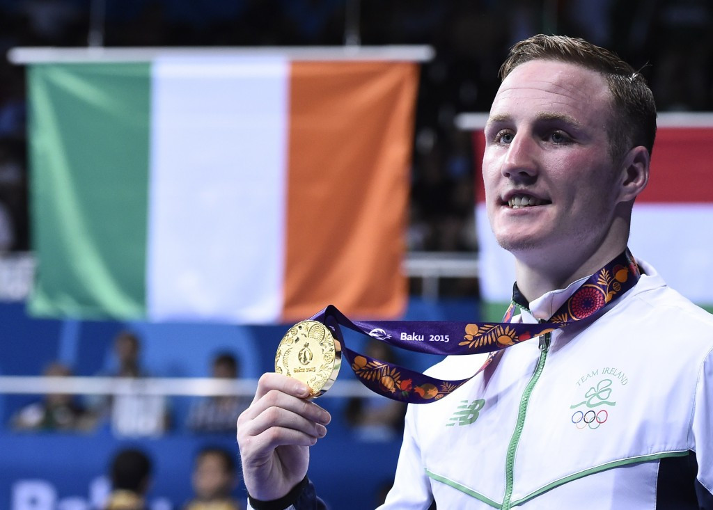 Ireland's Michael O'Reilly won gold at the Baku 2015 European Games ©Getty Images