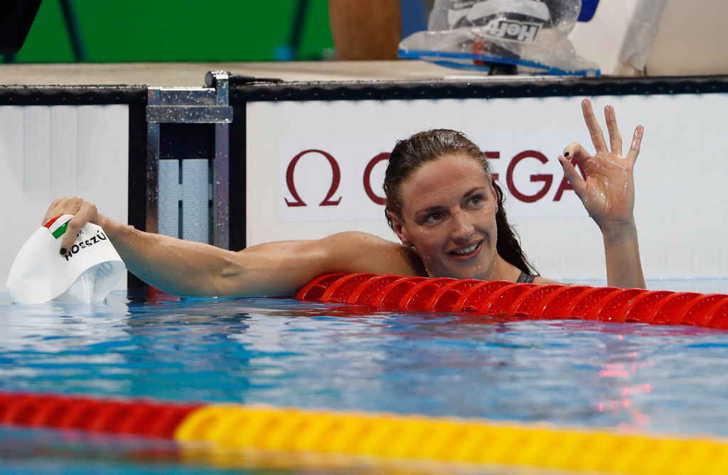 Katinka Hosszu won her third gold medal of the Games in the 200m individual medley ©Getty Images