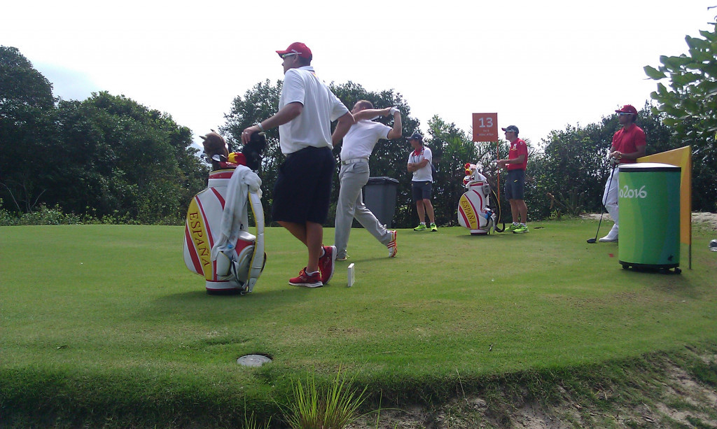 Spain's Sergio Garcia on the 13th tee within putting distance of a caiman nursery ©ITG