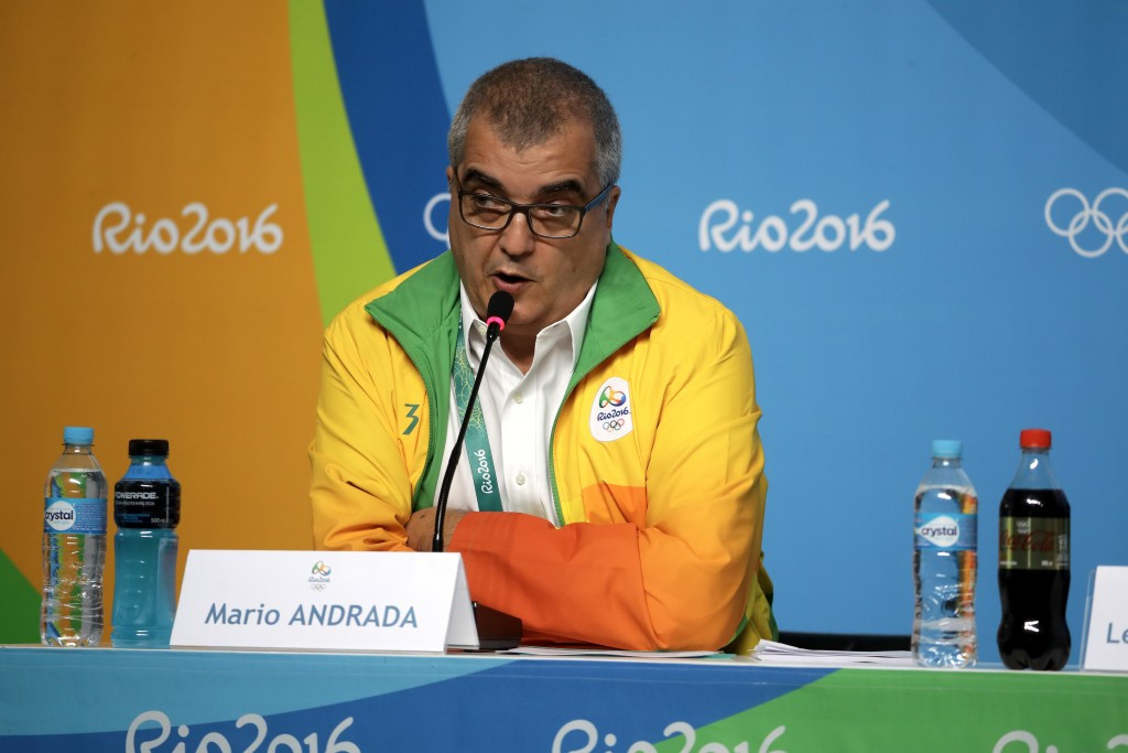 Rio 2016 director of communications Mario Andrada has once been again forced to defend his claim that the city would be the safest place in the world during the Olympics ©Getty Images
