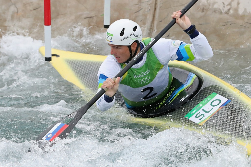 Slovenia's Peter Kauzer had to settle for the silver medal ©Getty Images