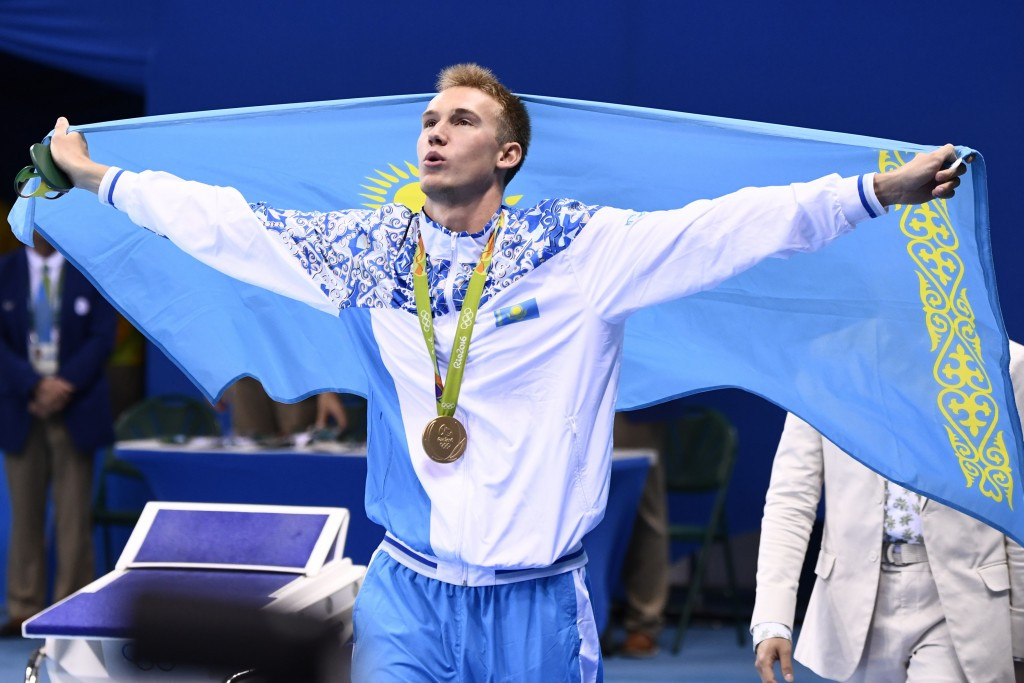 Dmitriy Balandin secured a historic gold medal for Kazakhstan in the 200m breaststroke ©Getty Images