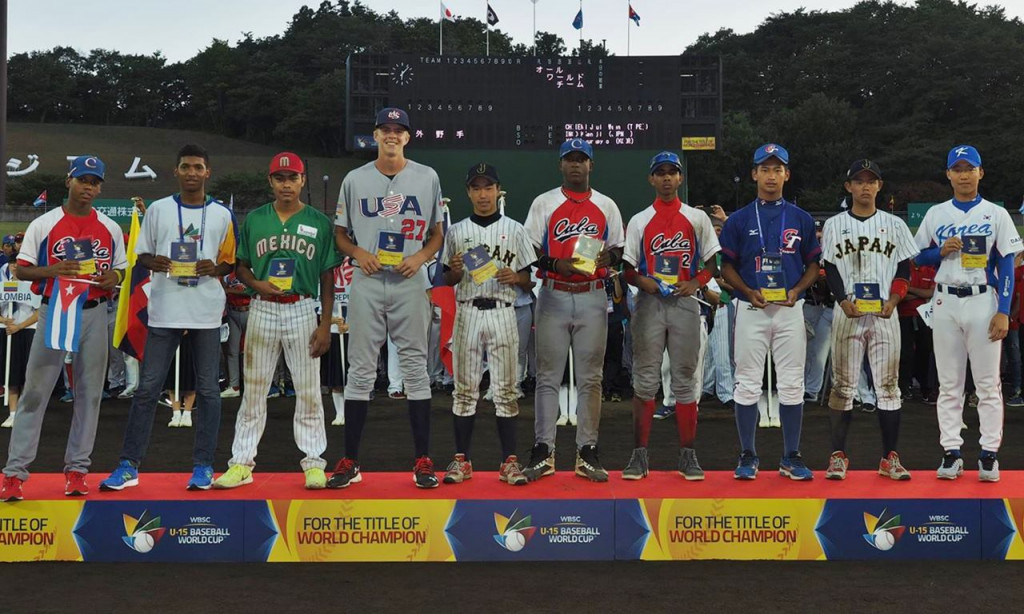 Three Cubans were selected for the WBSC All-World Team ©WBSC