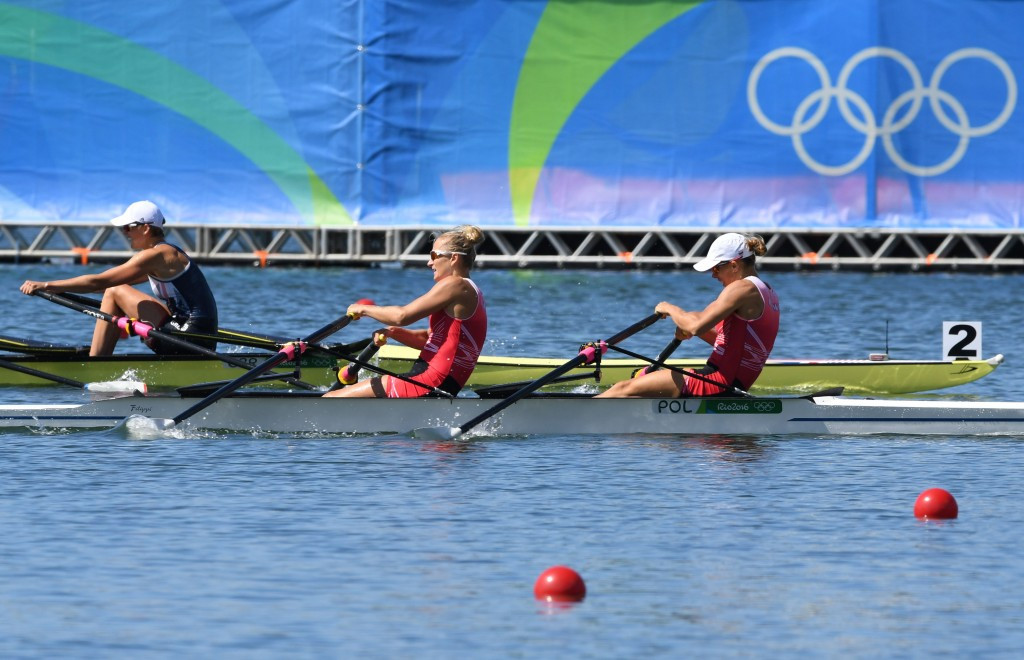 Poland's Natalia Madaj and Magdalena Fularczyk-Kozlowska won gold in the women's double sculls ©Getty Images