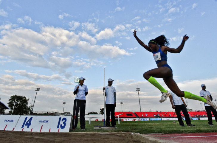 Colombia's double world triple jump champion Caterine Ibarguen, competing in Cali in June, will seek to improve on the silver she won at London 2012 after an unbeaten run that lasted almost four years ©Getty Images