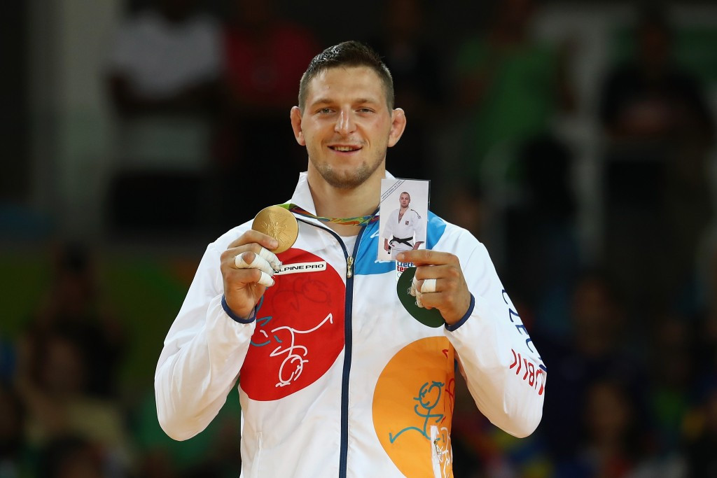 Lukas Krpalek dedicated his victory in the men's over 100kg to fellow Czech judoka Alexandr Jurecka ©Getty Images