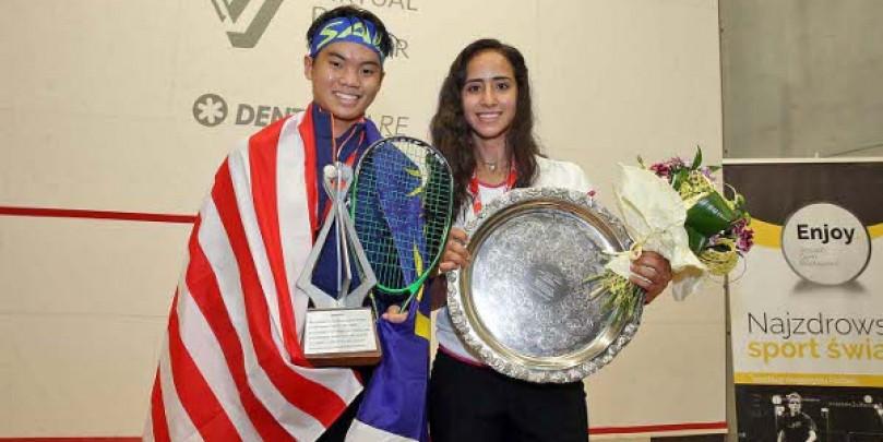 Ng and Gohar claim World Junior Squash Championships titles