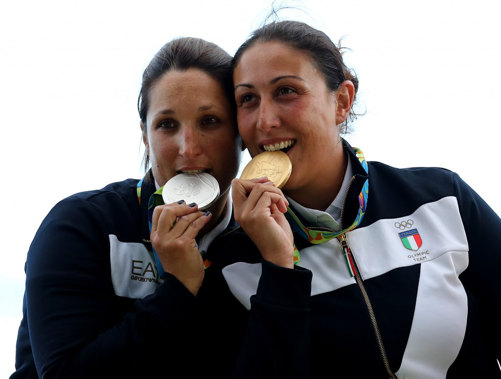 Bacosi beats Italian team-mate to secure Olympic women's skeet title at Rio 2016