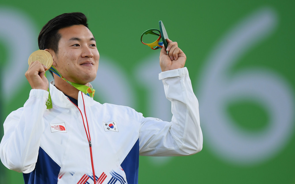 Ku completes first-ever Olympic archery clean sweep with gold in men's individual event at Rio 2016