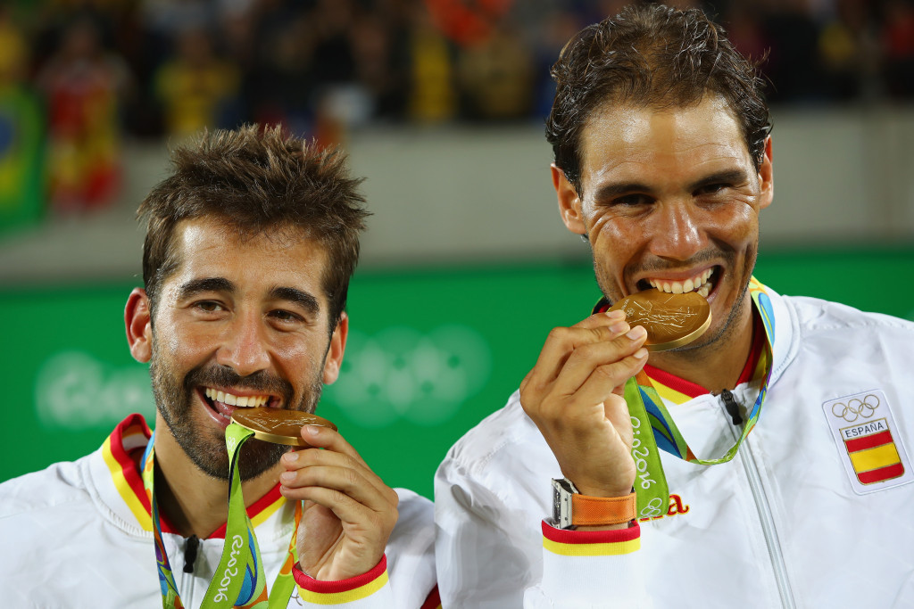 Nadal becomes second man to win Olympic gold medals in singles and doubles after victory with Lopez at Rio 2016