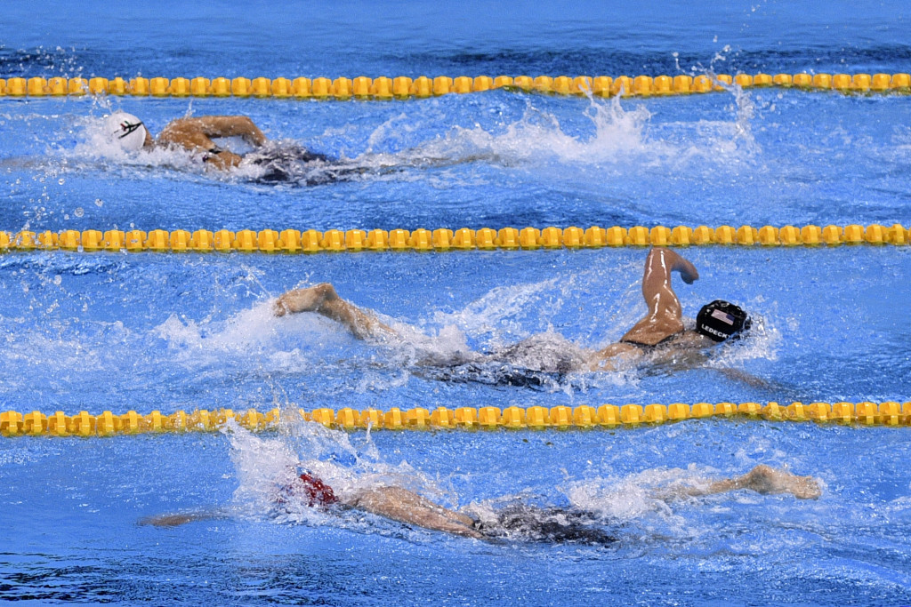 Katy Ledecky decimated both her rivals and the world record to win the 800m freestyle ©Getty Images