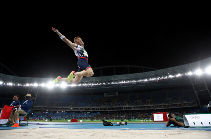 Britain's defending long jump champion Greg Rutherford was staring at an early exit after fouling two of his three qualifying jumps but managed to proceed to the final with a last effort of 7.90m ©Getty Images