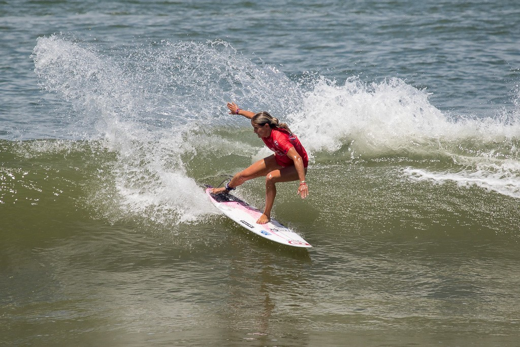 France's Pauline Ado impressed in the women's repecharge competition ©ISA