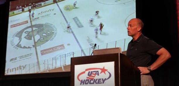 The aim of the Symposium was to increase the skillset of ice hockey coaches ©USA Hockey