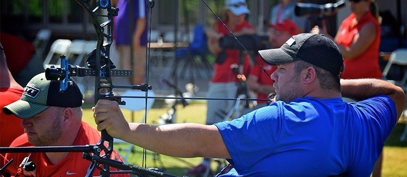 American para-archer Kevin Polish is not celebrating qualifying for Rio 2016 ©USA Archery