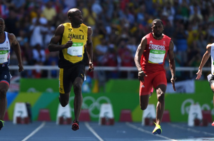 Usain Bolt on cruise control in his 100m heat today, which he won in 10.07 to reach tomorrow's semi-finals ©Getty Images