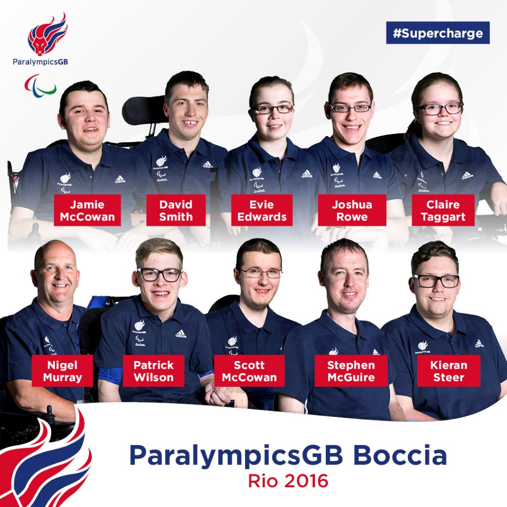 Paralympic champions named on GB Boccia squad for Rio 2016