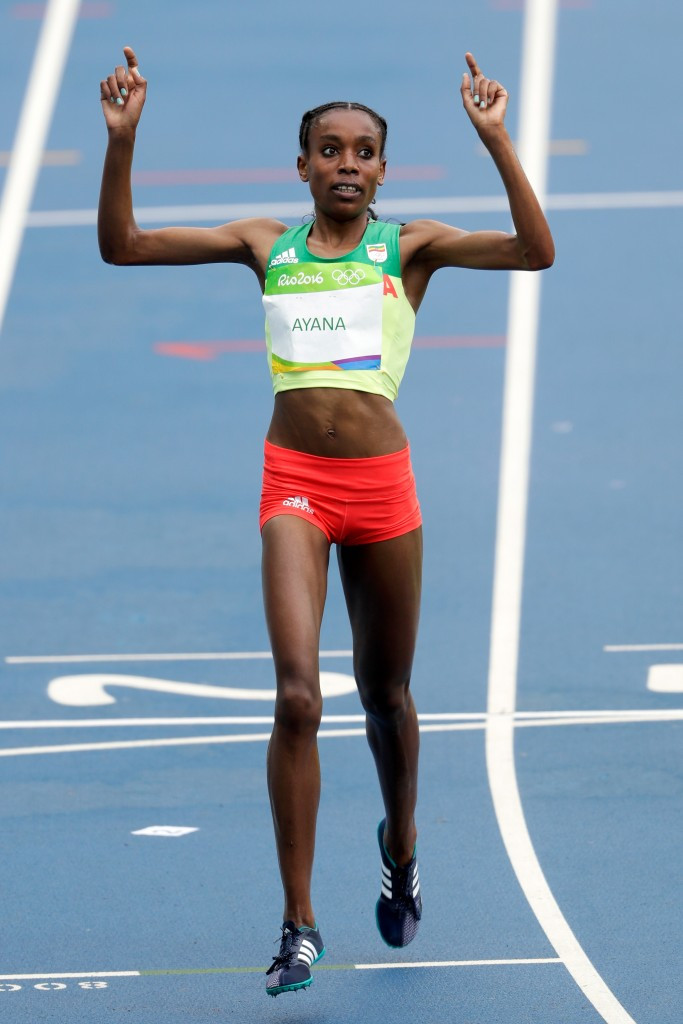 Ethiopia's Almaz Ayana did not even look tired after breaking the world record in the 10,000m at the Olympics, Sonia O'Sullivan claimed ©Getty Images