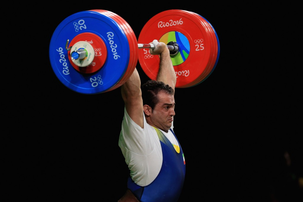 Sohrab Moradi made it two Olympic weightlifting gold medals in as many days for Iran after winning the men's 94 kilograms title at the Riocentro - Pavilion 2 venue in Rio de Janeiro ©Getty Images