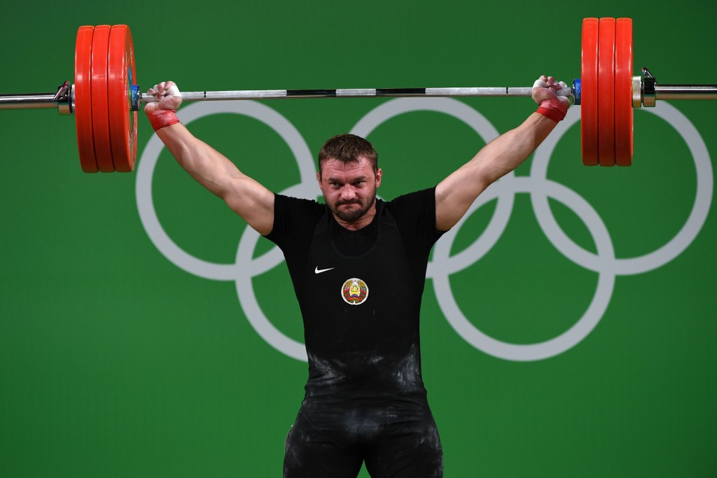 World champion Vadzim Straltsou of Belarus took the silver medal ©Getty Images