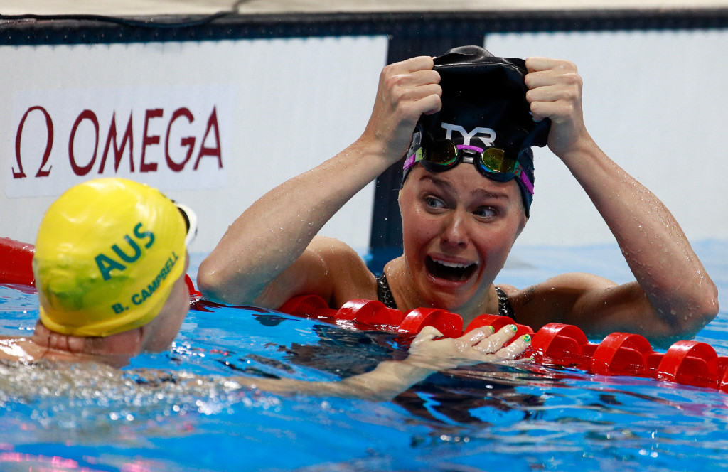 Pernille Blume claimed Denmark's first gold medal of Rio 2016 in the 50m freestyle ©Getty Images