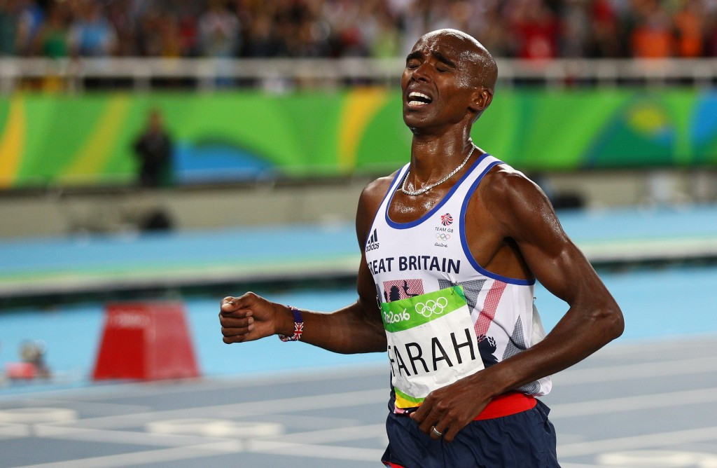 Mo Farah successfully defends his Olympic 10,000m title in Rio ©Getty Images