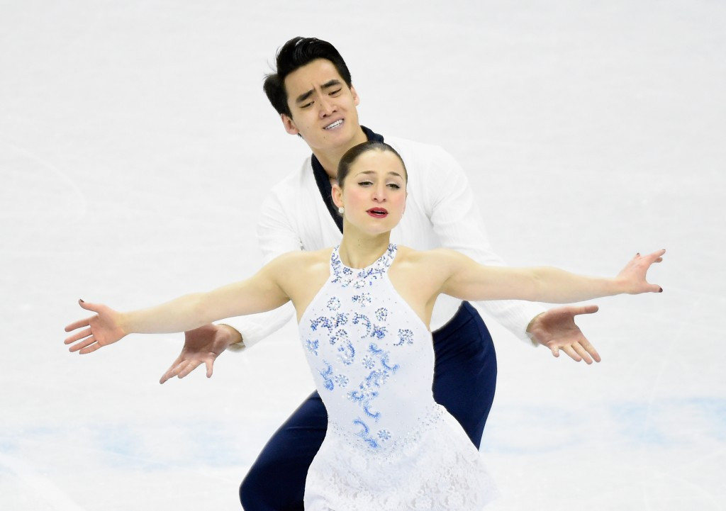 Two-time reigning US pairs pewter medallists Madeline Aaron and Max Settlage have announced they have ended their figure skating partnership ©Getty Images