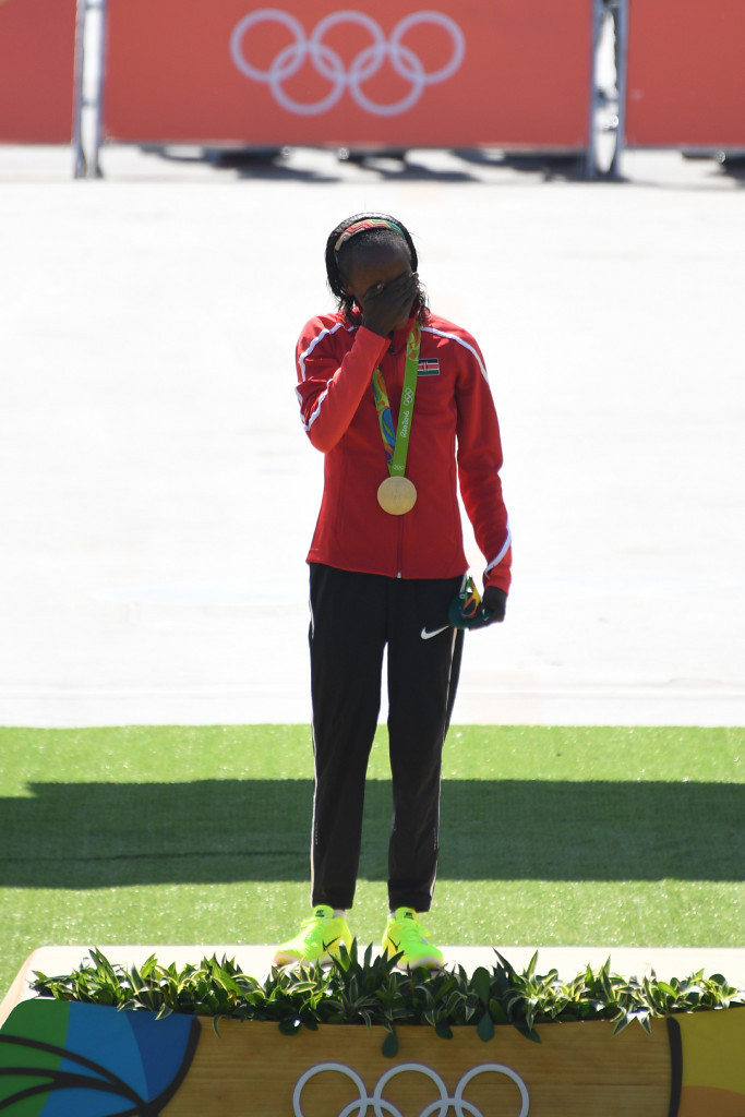 "Sumgong ""never worried"" she wouldn't win Rio's Olympic Marathon parade in blazing heat"