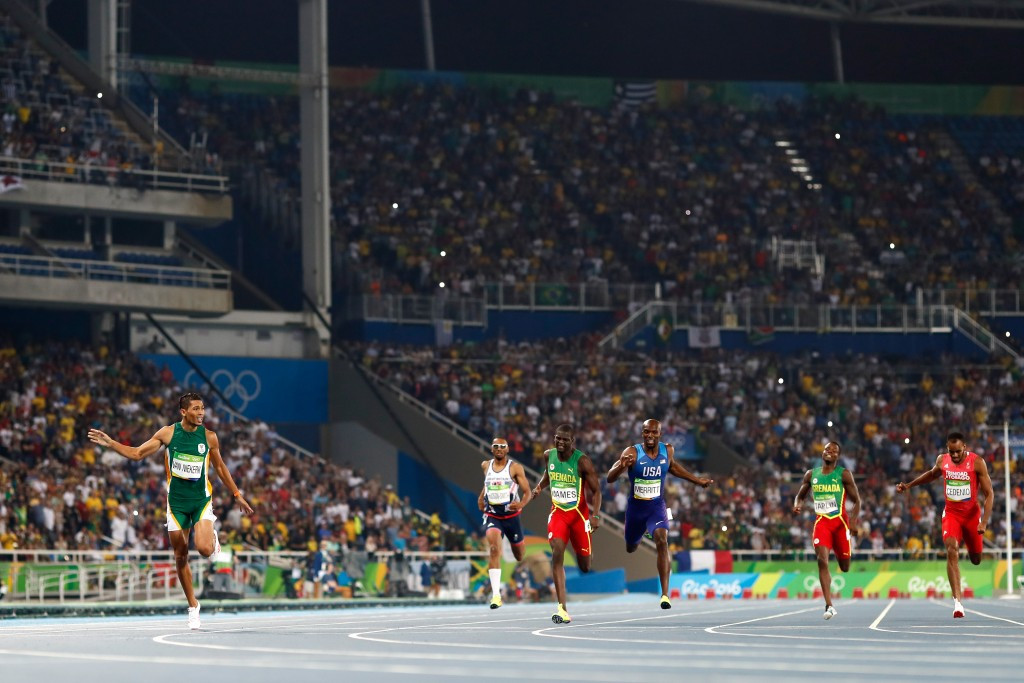 Olympic 400m champion Wayde van Niekerk is among IAAF Athlete of the Year contenders ©Getty Images