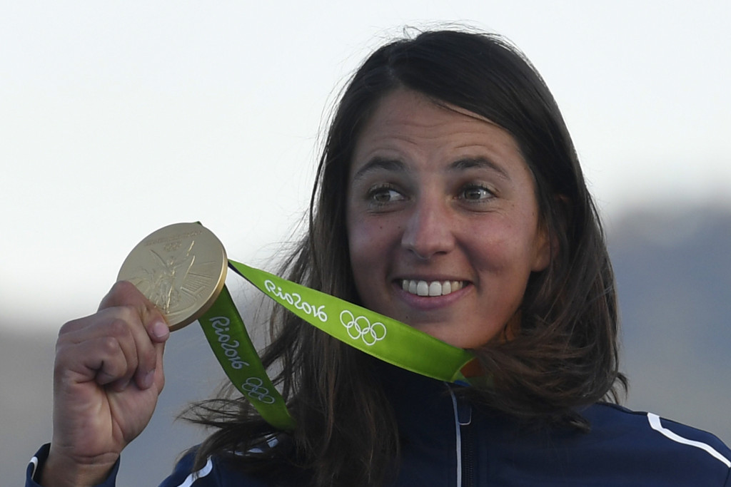 Charline Picon of France got her hands on what had been an elusive Olympic gold medal ©Getty Images