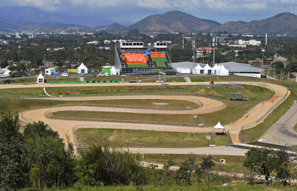 Action at the mountain bike venue, pictured last month, is due to begin on Saturday ©Getty Images