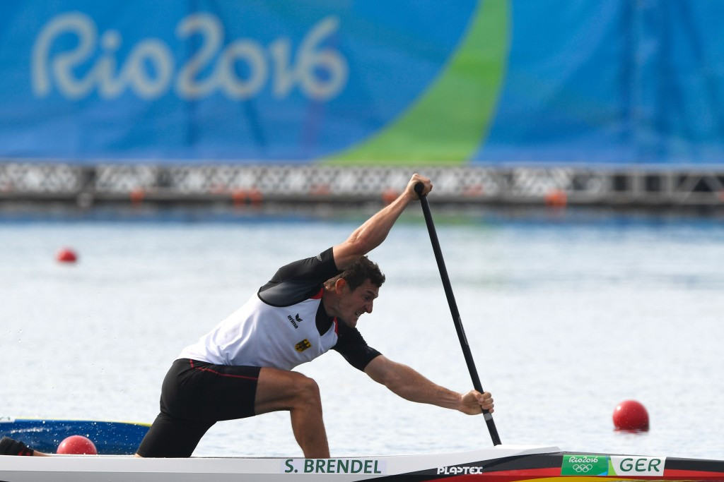 Germany's Sebastian Brendel claimed gold in the men's canoe single 1000m  ©Getty Images