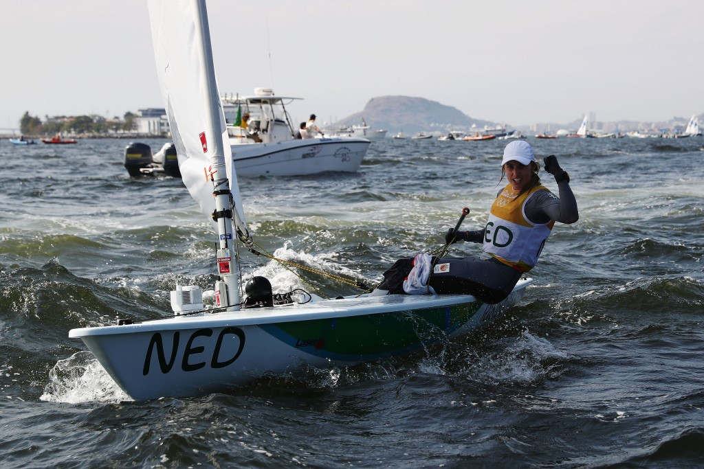 Marit Bouwmeester triumphed in the women's laser radial class ©Getty Images