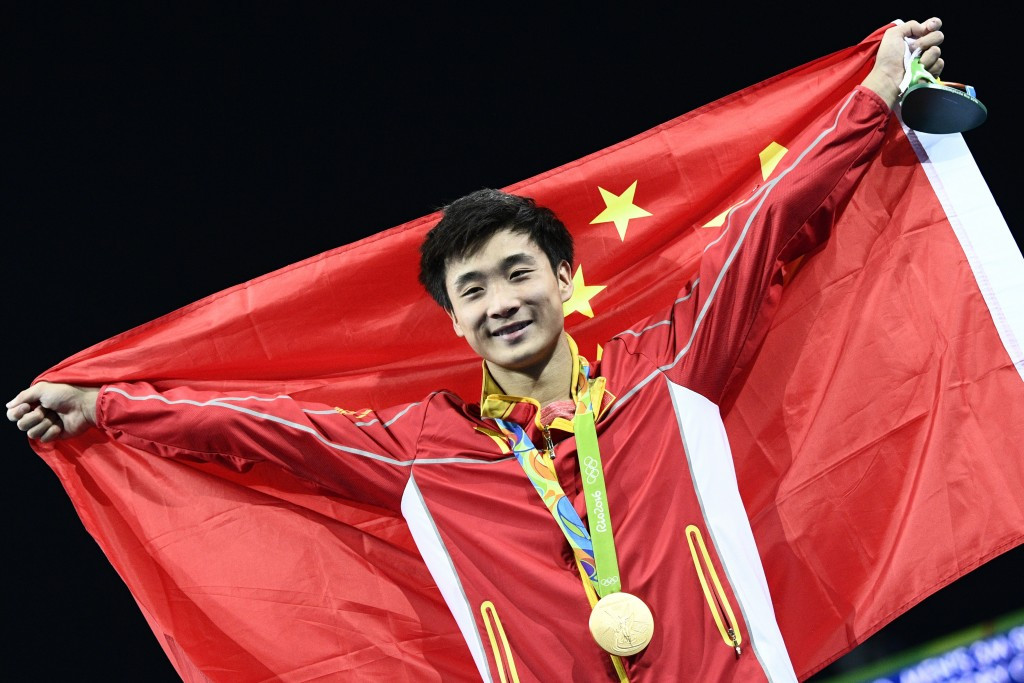 Cao Yuan of China produced a series of stunning dives on his way to clinching gold ©Getty Images