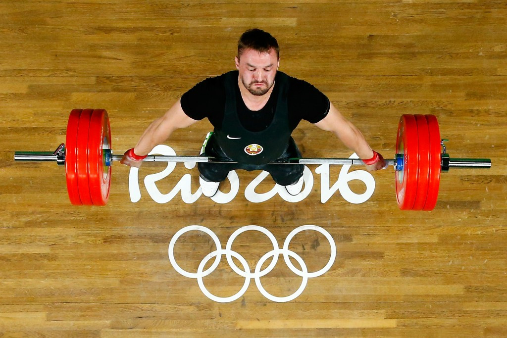 Vadzim Straltsou of Belarus claimed a silver medal in the men's under 94kg division in Rio ©Getty Images