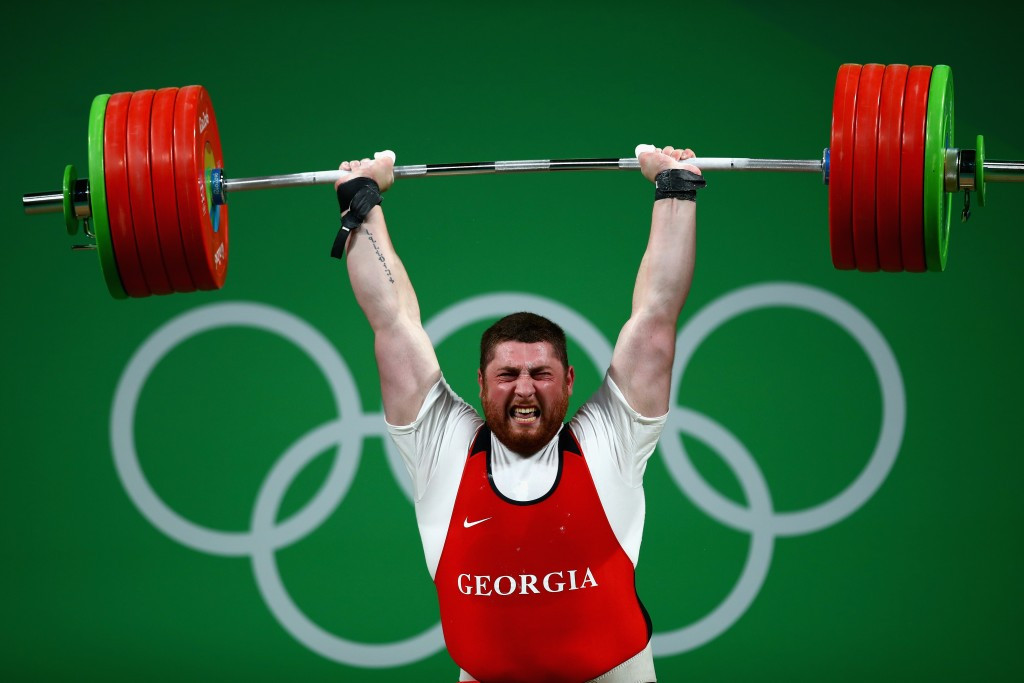 Lasha Talakhadze took a thrilling gold medal for Georgia ©Getty Images