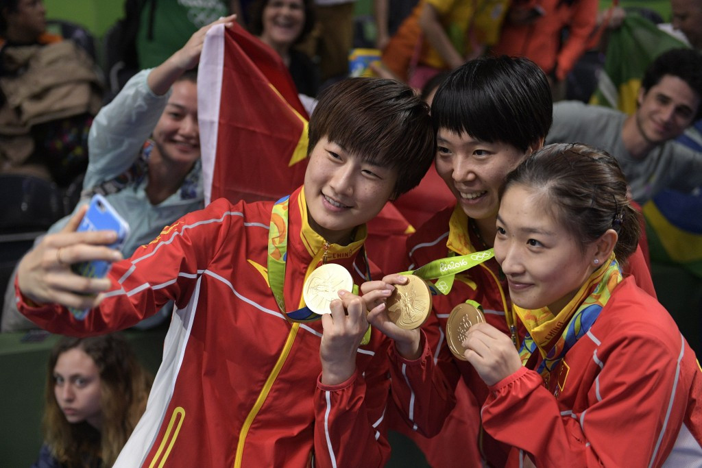 Chinese women overpower Germany to continue Olympic table tennis domination