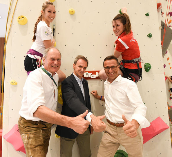 Special wall installed in Rio shopping centre to celebrate climbing being included on programme for Tokyo 2020
