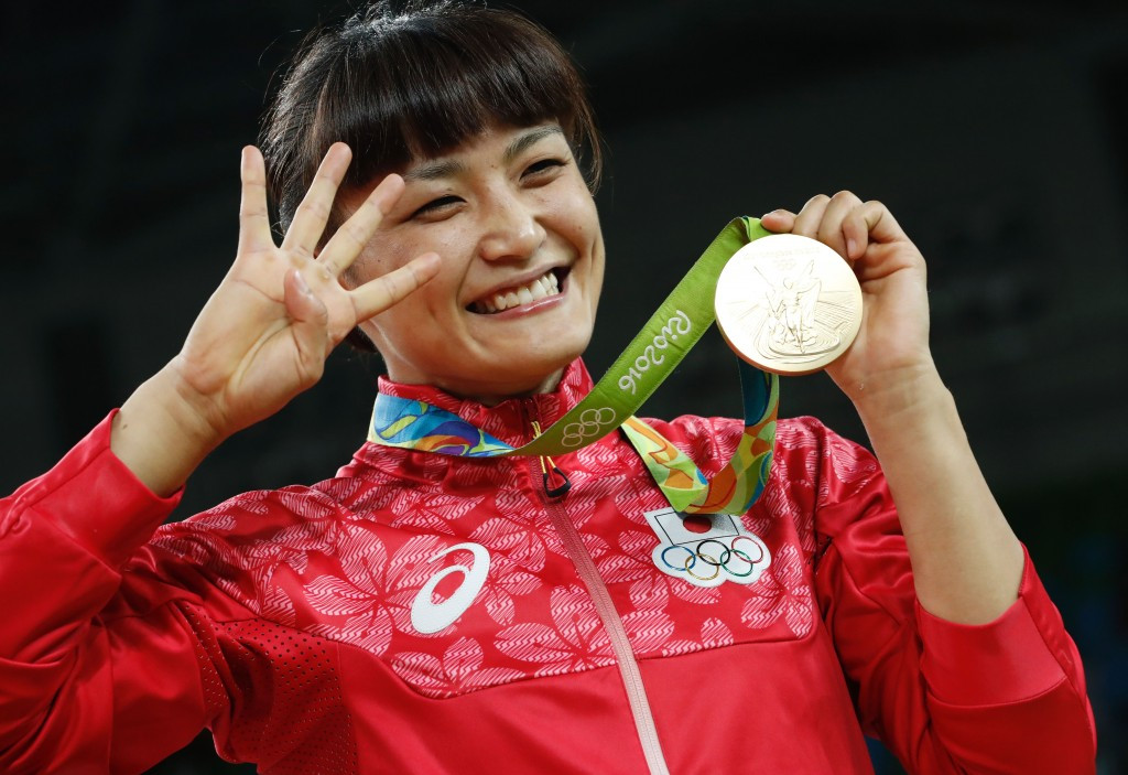 Kaori Icho became the first women to win gold in an individual event at four consecutive Olympic Games ©Getty Images