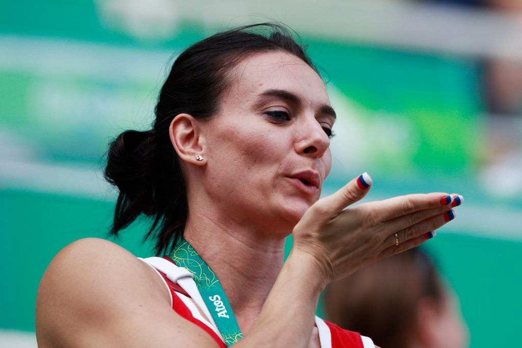 Russia's Yelena Isinbayeva has been campaigning in Rio de Janeiro for a place on the IOC Athletes' Commission ©Getty Images