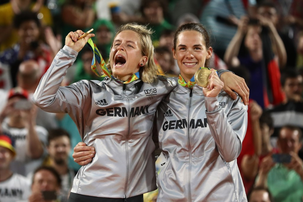 Germans silence home crowd to beat Brazilians and claim first women's beach volleyball crown
