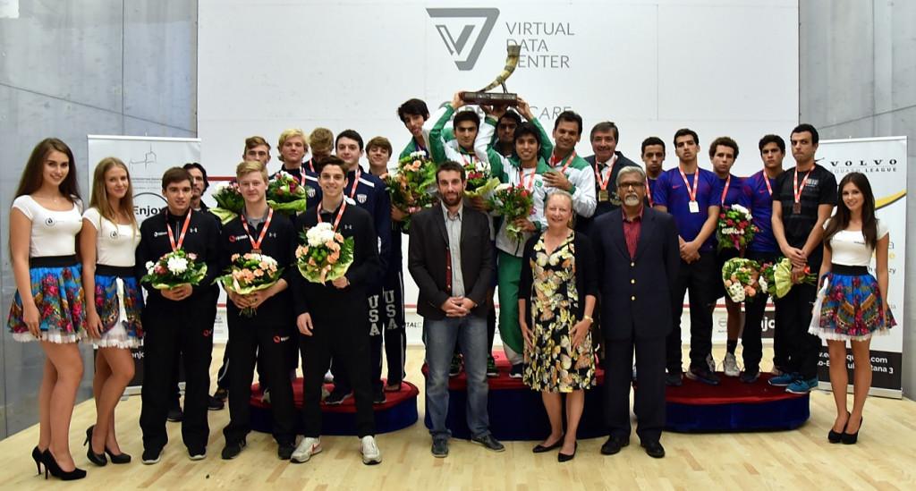 Pakistan shock Egypt to win WSF Men's World Junior Team Championship