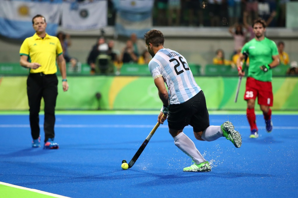 Argentina celebrate maiden men's hockey Olympic gold after beating Belgium